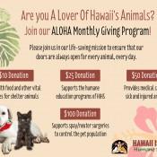 ALOHA Monthly Giving Program